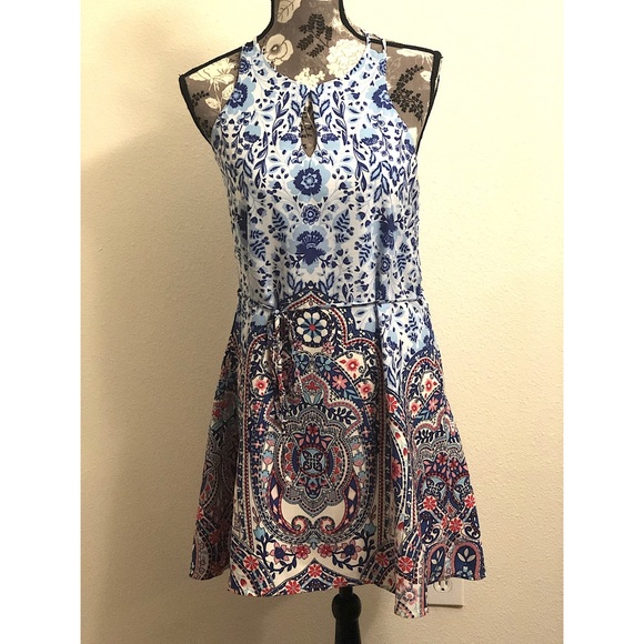 Anthropologie Dresses & Skirts - ANTHRO pink owl paisley sleeveless dress 👗